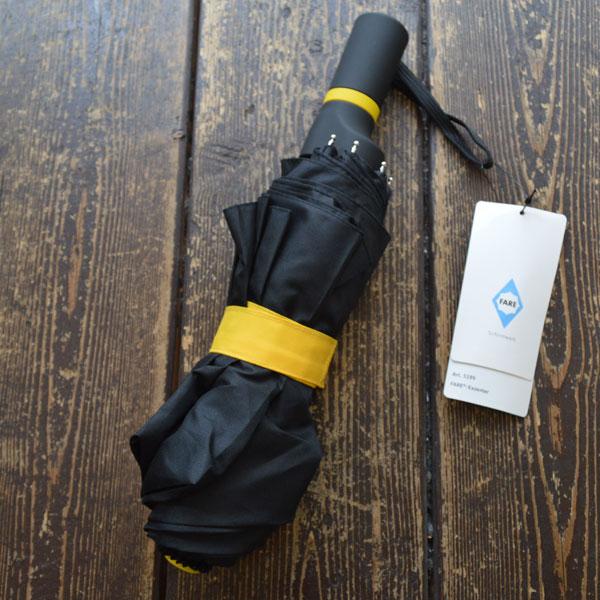 フェア FARE 折りたたみ傘 Mini umbrella FARE Exzenter Item 5199 black-yellow