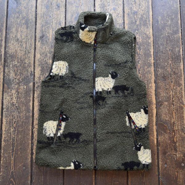 ファーフィールド オリジナル FARFIELD ORIGINAL フェルベスト FELL VEST OLIVE SHEEP