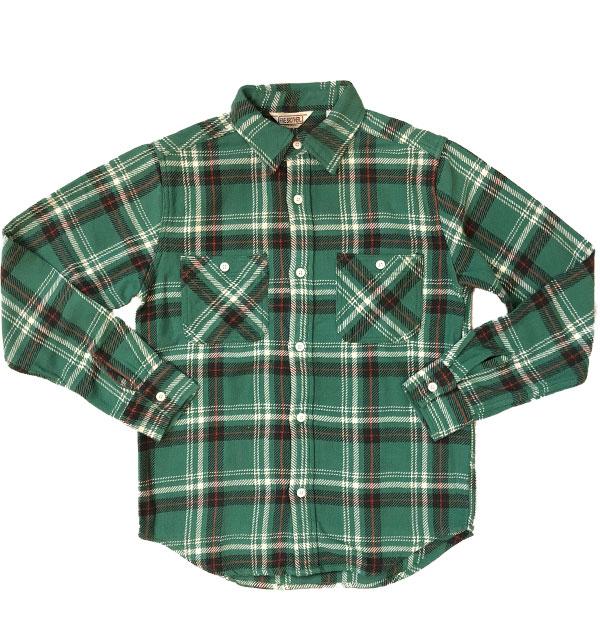 ファイブブラザー 【FIVE BROTHER】 ヘビーフランネル チェックシャツ HEAVY FLANNEL SHIRTS GREEN CHECK