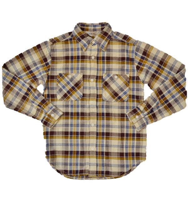 ファイブブラザー 【FIVE BROTHER】 ヘビーフランネル チェックシャツ HEAVY FLANNEL SHIRTS BROWN CHECK
