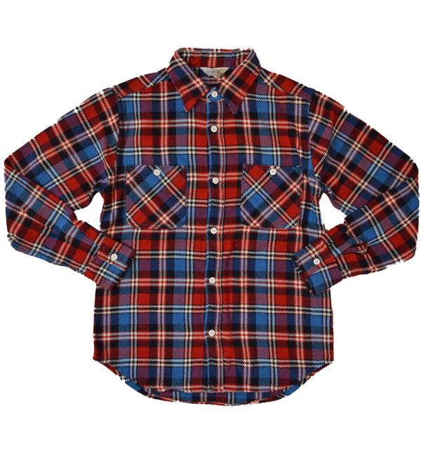 ファイブブラザー 【FIVE BROTHER】 ヘビーフランネル チェックシャツ HEAVY FLANNEL SHIRTS NAVY CHECK