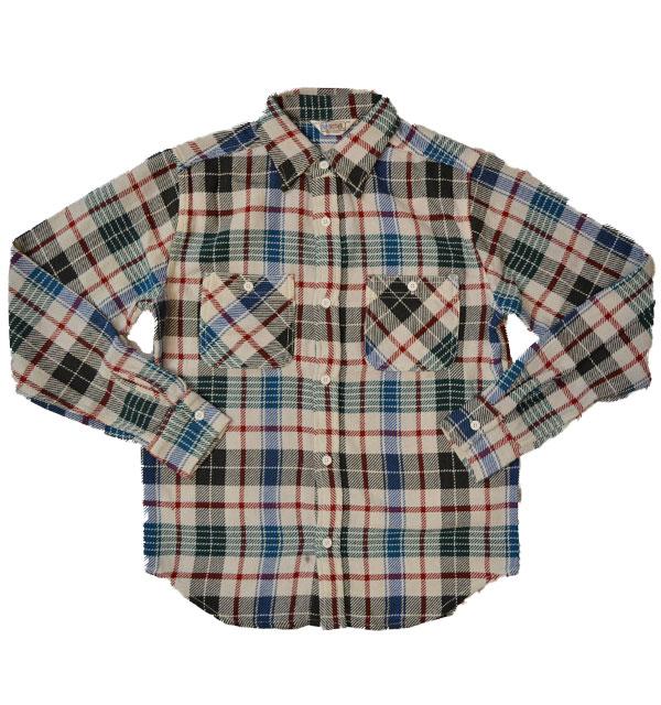 ファイブブラザー 【FIVE BROTHER】 ヘビーフランネル チェックシャツ HEAVY FLANNEL SHIRTS GRAY CHECK