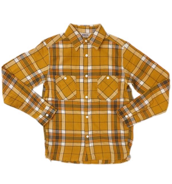 ファイブブラザー 【FIVE BROTHER】 ライトフランネルシャツ Light Flannel Shirt YELLOW