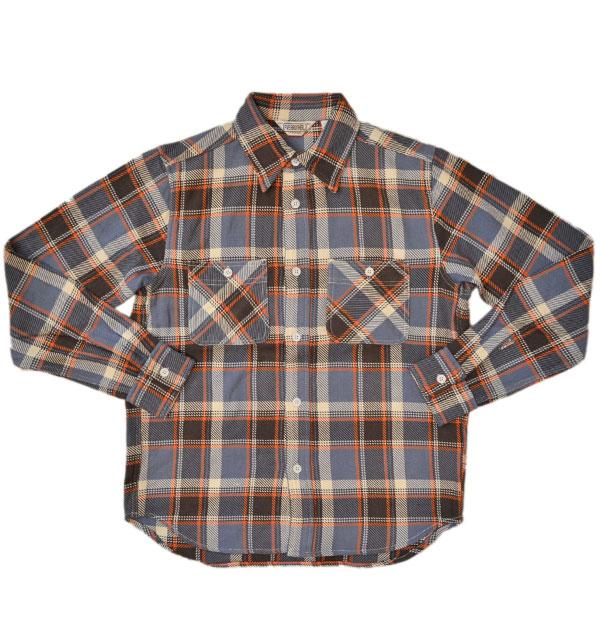 ファイブブラザー 【FIVE BROTHER】 ヘビーフランネル チェックシャツ HEAVY FLANNEL SHIRTS BLUE