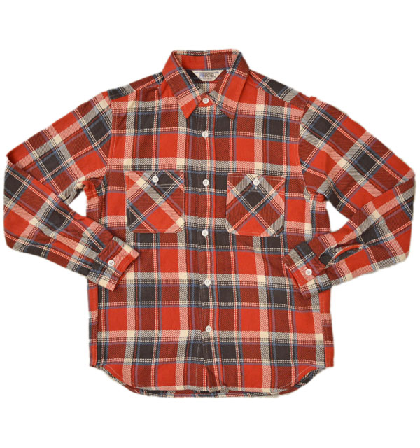 ファイブブラザー 【FIVE BROTHER】 ヘビーフランネル チェックシャツ HEAVY FLANNEL SHIRTS RED