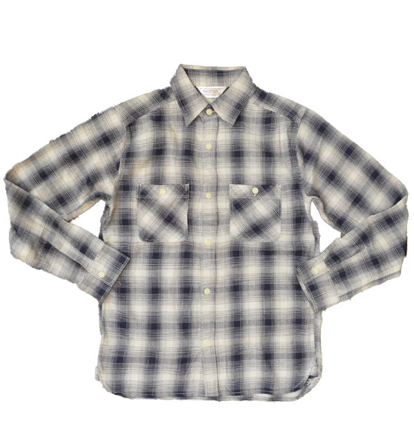 ファイブブラザー 【FIVE BROTHER】 ライトフランネルシャツ Light Flannel Shirt WHITE OMBRE