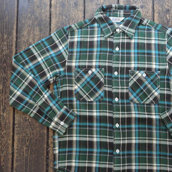 ファイブブラザー FIVE BROTHER ヘビーフランネル チェックシャツ HEAVY FLANNEL SHIRTS GREEN CHECK