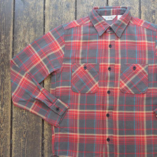 ファイブブラザー FIVE BROTHER ヘビーフランネル チェックシャツ HEAVY FLANNEL SHIRTS RED CHECK