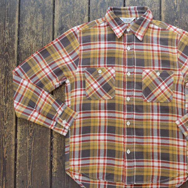 ファイブブラザー FIVE BROTHER ヘビーフランネル チェックシャツ HEAVY FLANNEL SHIRTS YELLOW CHECK