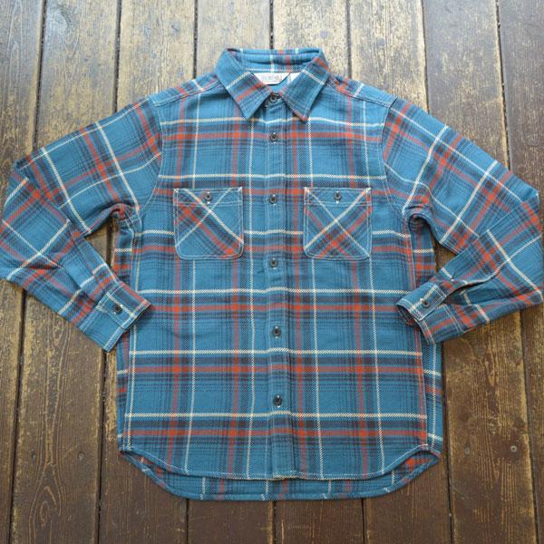 ファイブブラザー FIVE BROTHER ヘビーフランネル チェックシャツ HEAVY FLANNEL SHIRTS BLUE CHECK