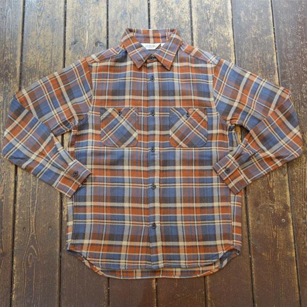 ファイブブラザー FIVE BROTHER ヘビーフランネル チェックシャツ HEAVY FLANNEL SHIRTS BROWN CHECK