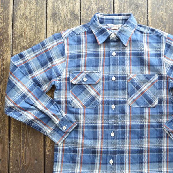 ファイブブラザー FIVE BROTHER エクストラ ヘビーフランネル チェックシャツ EX HEAVY FLANNEL SHIRTS BLUE CHECK