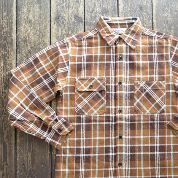ファイブブラザー FIVE BROTHER エクストラ ヘビーフランネル チェックシャツ EX HEAVY FLANNEL SHIRTS BROWN CHECK