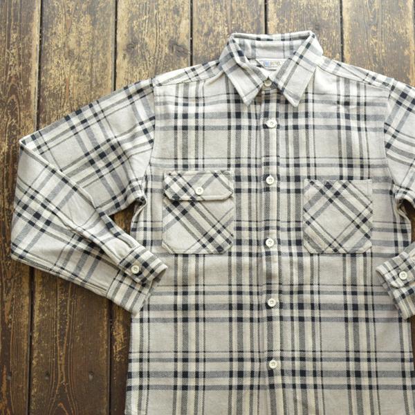 ファイブブラザー FIVE BROTHER エクストラ ヘビーフランネル チェックシャツ EX HEAVY FLANNEL SHIRTS GRAY CHECK