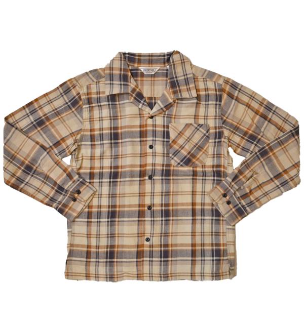 ファイブブラザー FIVE BROTHER ライトフランネル ワンナップシャツ LIGHT FLANNEL L/S ONE-UP SHIRT LOT.151902 BEIGE CHECK