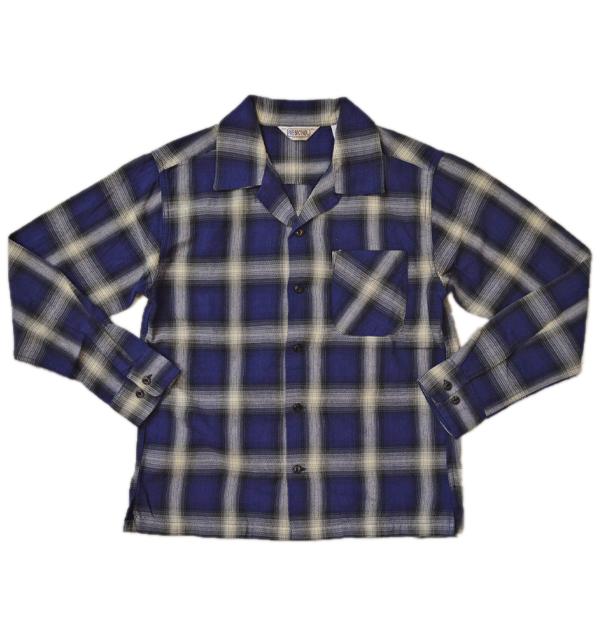 ファイブブラザー FIVE BROTHER ライトフランネル ワンナップシャツ LIGHT FLANNEL L/S ONE-UP SHIRT LOT.151902 NAVY OMBRE