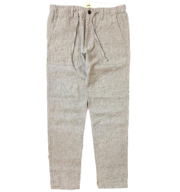 エフオービーファクトリー 【FOB FACTORY】 バインド リネンベイカーパンツ BIND LINEN BAKER PANTS F0449