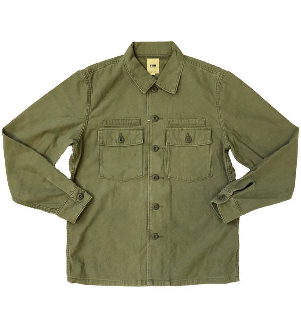 エフオービーファクトリー 【FOB FACTORY】 ファティーグシャツジャケット FATIGUE SHIRT JACKET F2362 OLIVE