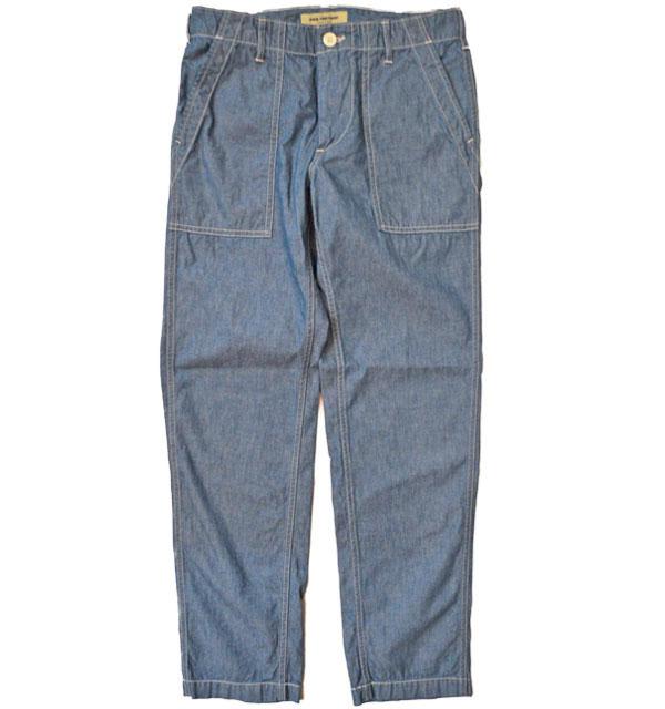 エフオービーファクトリー 【FOB FACTORY】 CHAMBRAY BAKER PANTS シャンブレーベイカーパンツ F0458 BLUE