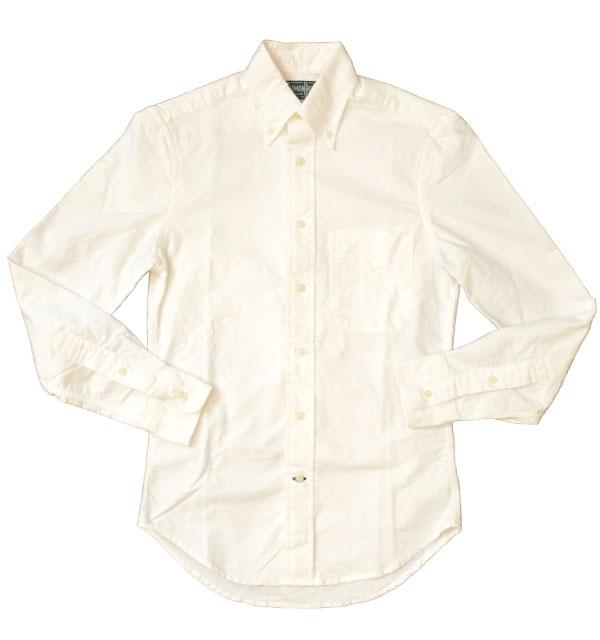 ギットマン ヴィンテージ 【GITMAN VINTAGE】 オックスフォードボタンダウンシャツ OXFORD B.D.SHIRT WHITE
