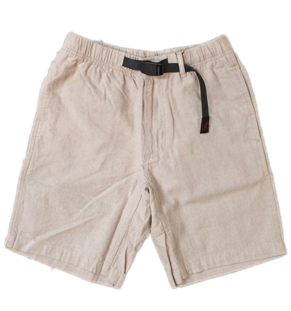 グラミチ 【GRAMICCI】 GRAMICCI COTTON LINEN ZIPPER SHORTS GREGE