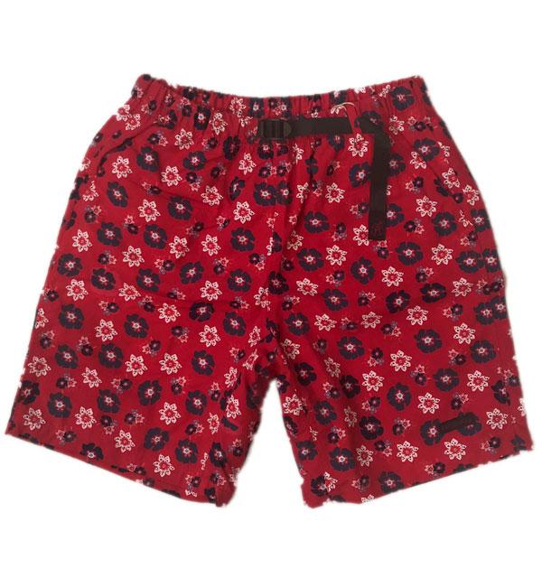 グラミチ 【GRAMICCI】 パッカブルショーツ PACKABLE SHORTS 水陸両用 RED FLOWER