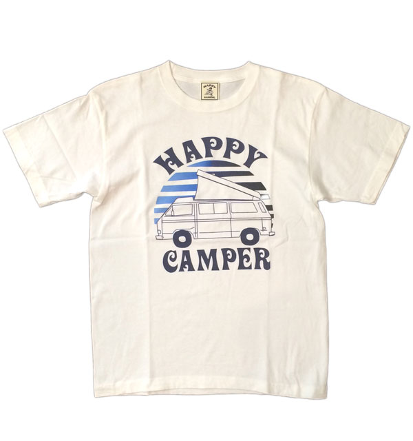 ハッピーキャンパー 【HAPPY CAMPER】 HAPPY CAMPER VAN TEE WHITE