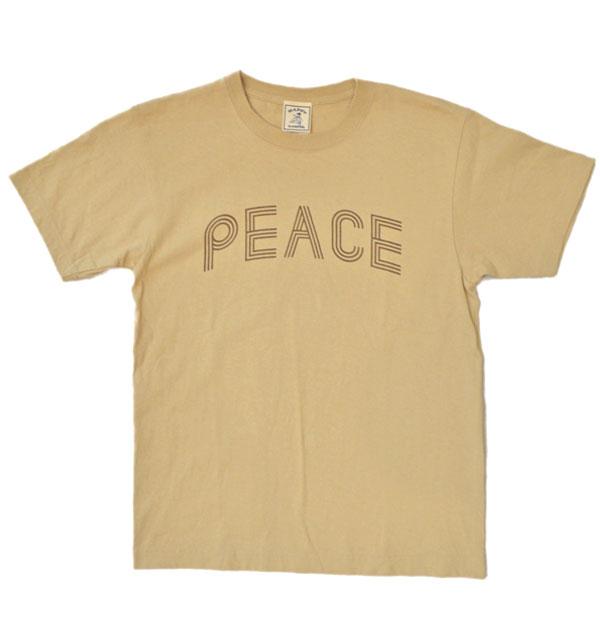 """ハッピーキャンパー HAPPY CAMPER 6.2オンス 半袖プリントTシャツ """"PEACE"""" SAND"""