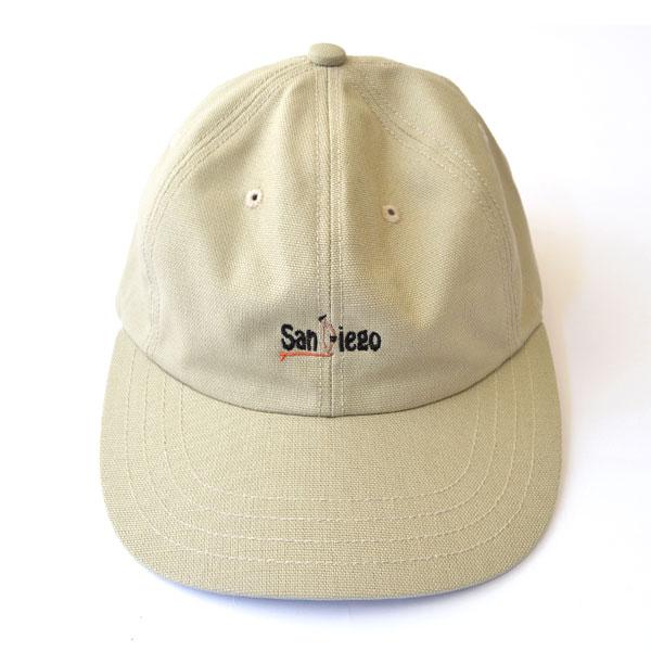 """ハッピーキャンパー HAPPY CAMPER コットンダック 6パネル 刺繍 キャップ DUCK 6PANEL EMB CAP """"SanDiego"""" BEIGE"""