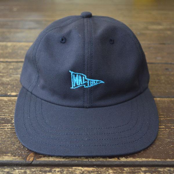 """ハッピーキャンパー HAPPY CAMPER コットンダック  DUCK 6PANEL CAP """"MALIBU EMB BLUE"""" NAVY"""