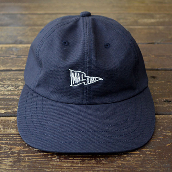 "ハッピーキャンパー HAPPY CAMPER コットンダック  DUCK 6PANEL CAP ""MALIBU EMB WHITE"" NAVY"