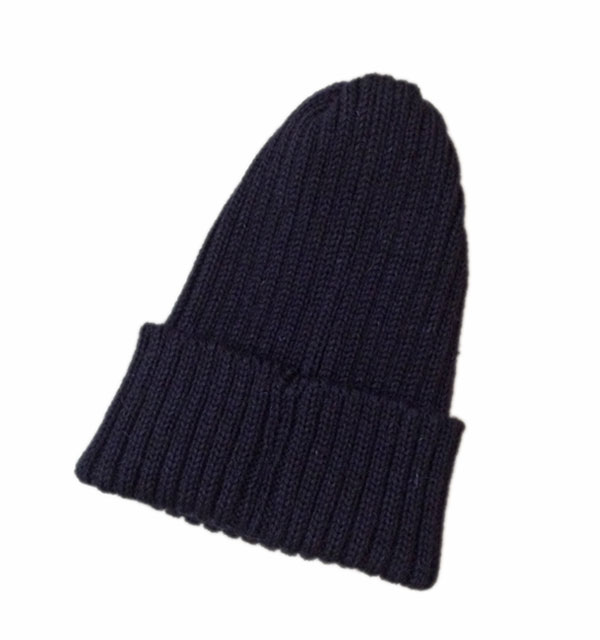 ハイランド2000 【HIGHLAND2000】 2 x 1 British Wool Watchcap ニットキャップ NAVY