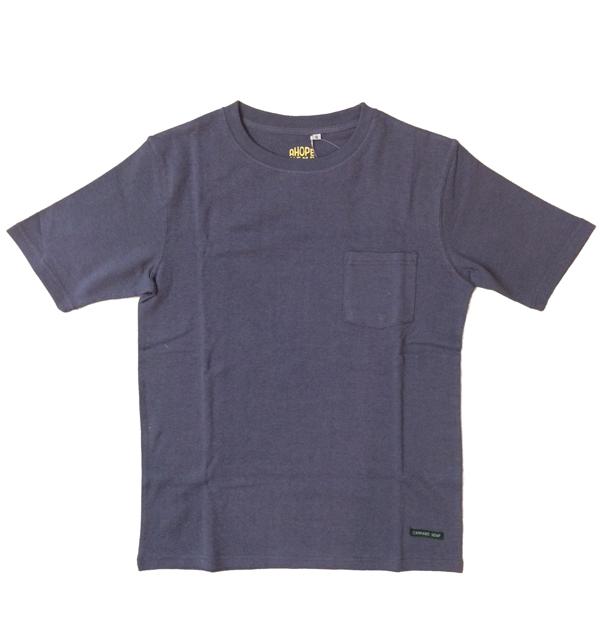 アホープヘンプ 【A HOPE HEMP】 ベーシックポケットTシャツ Regular S/S Pocket Tee BLUE