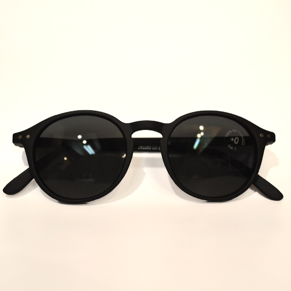 イジピジ 【IZIPIZI】 SUN サングラス +0 ボストン型 #D BLACK SOFT