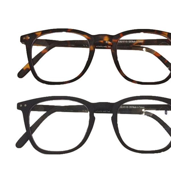 イジピジ 【IZIPIZI】 リーディンググラス 眼鏡 ±0 ウェリントン型 #E 2COLOR