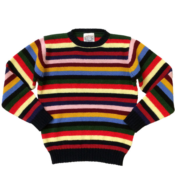 ジャミーソンズ 【JAMIESONS】 マルチボーダーニットセーター
