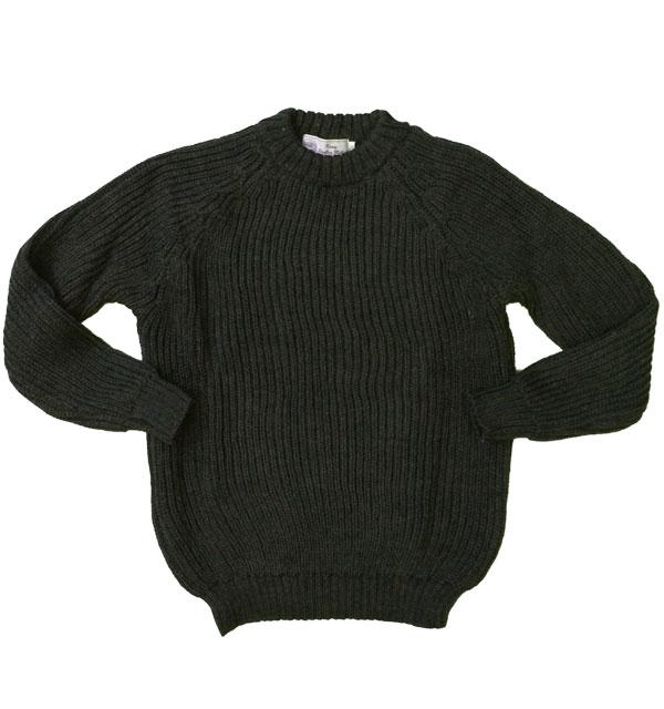 ケリーウーレンミルズ 【KERRY WOOLEN MILLS】 Fisherman Rib Crew Neck Sweater フィッシャーマンリブクルーネックセーター OLIVE