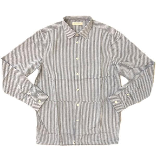ケスティン エア 【KESTIN HARE】 アルメドールシャツ ARMADALE SHIRT BLUE STRIPE