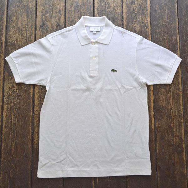 ラコステ LACOSTE フレンチラコ ポロシャツ L1212 WHITE