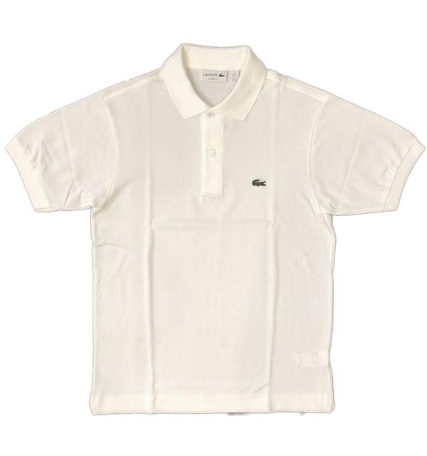 ラコステ 【LACOSTE】 フレンチラコ ポロシャツ L1212 WHITE