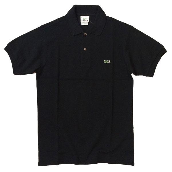 ラコステ 【LACOSTE】  半袖ポロシャツ L1212  BLACK 送料無料
