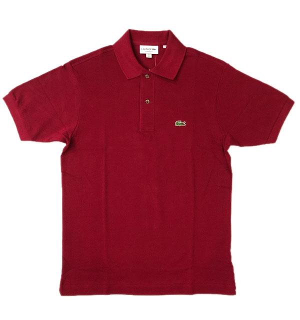 ラコステ LACOSTE フレンチラコ ポロシャツ L1212 BURGUNDY