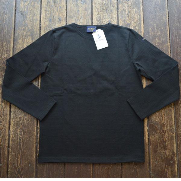 ルミノア Le minor 無地 バスクシャツ 810 SOLID NOIR