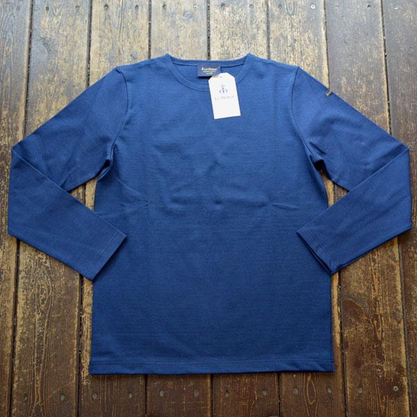ルミノア Le minor 無地 バスクシャツ 810 SOLID MARINE
