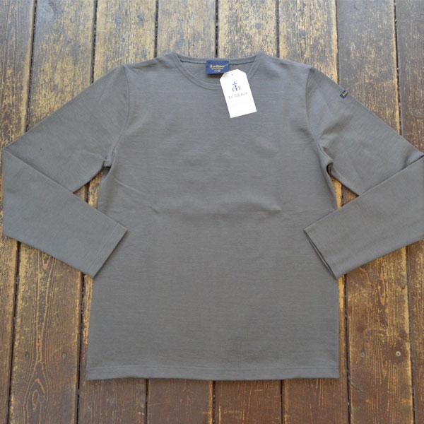 ルミノア Le minor 無地 バスクシャツ 810 SOLID AUTHRACITE