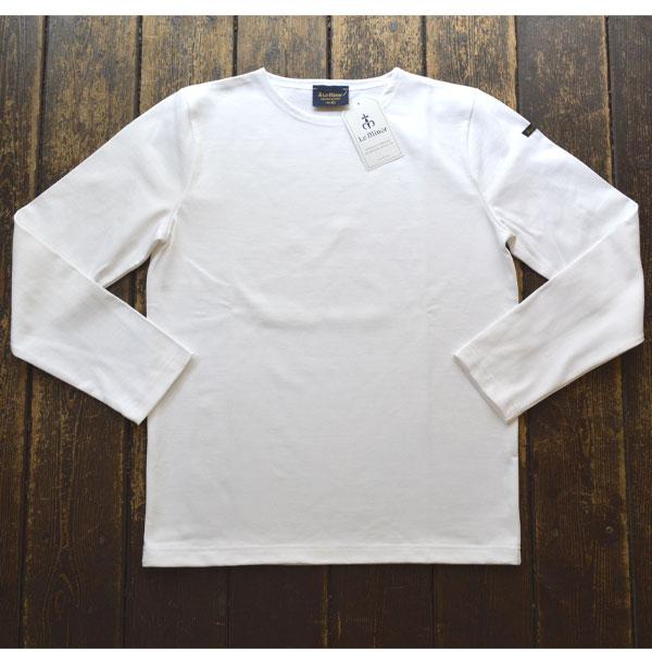 ルミノア Le minor 無地 バスクシャツ 810 SOLID BLANC