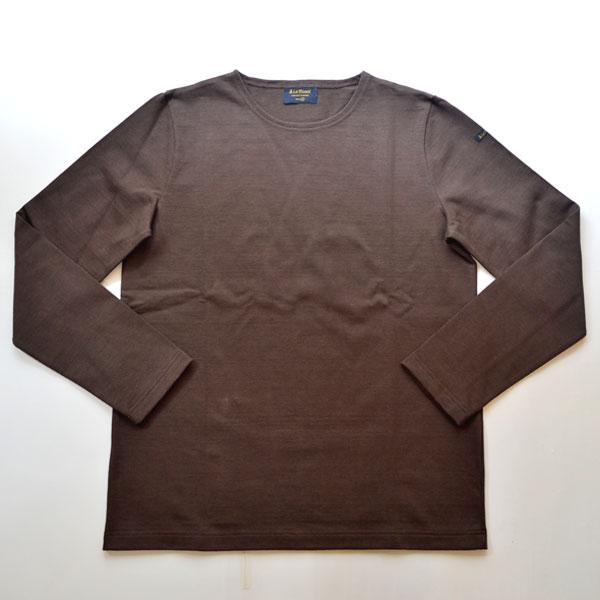 ルミノア Le minor 無地 バスクシャツ 810 SOLID DARK BROWN