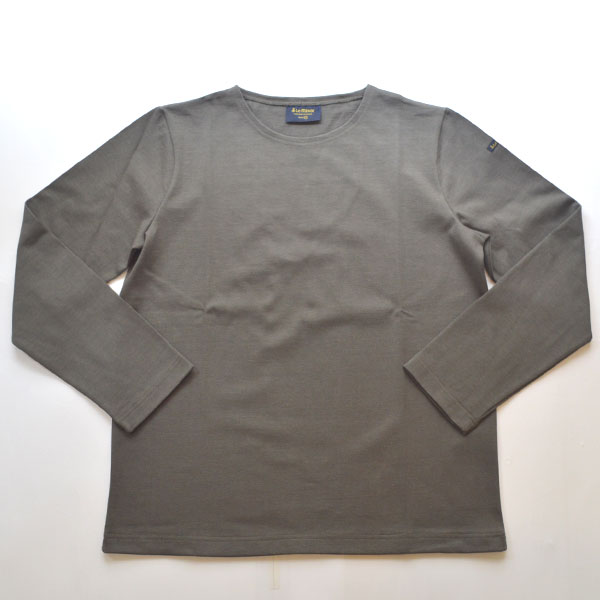 ルミノア Le minor 無地 バスクシャツ 810 SOLID CHARCOAL