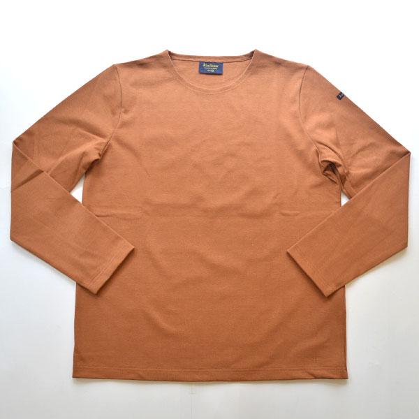 ルミノア Le minor 無地 バスクシャツ 810 SOLID MARRON CLAIR