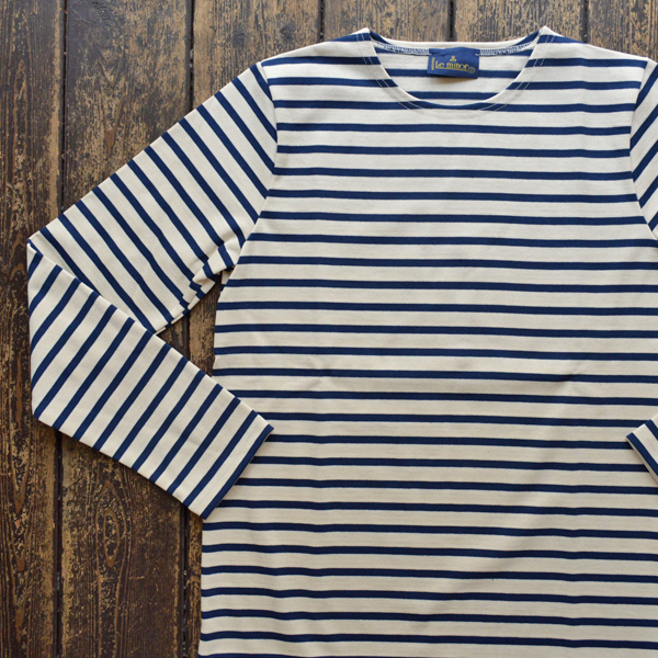 ルミノア Le minor ボーダーバスクシャツ ECRU/MARINE